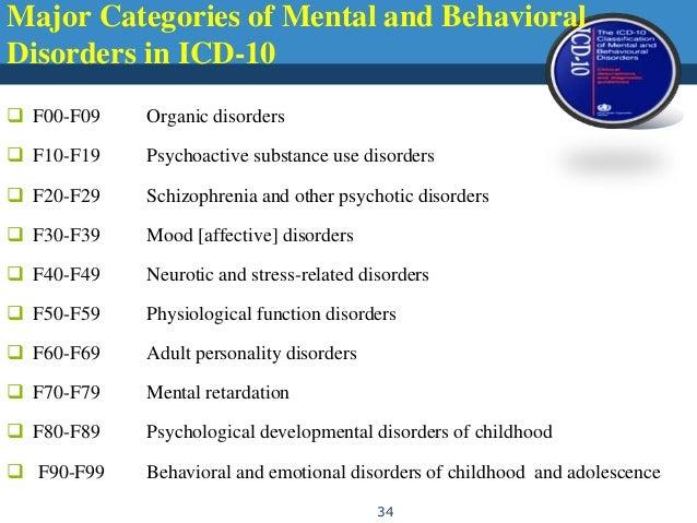 Seminar on icd 10 of Icd 10 psychiatric diagnosis codes