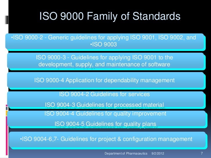 iso 9000 standard The countdown has begun for all iso-certified organizations to meet a december 15, 2003, deadline for compliance with the upgraded iso 9000 standards the switzerland-based international organization for standardization (iso) introduced its iso 9001:2000 upgrade in december 2000.