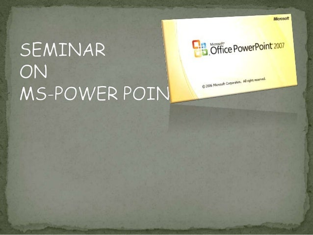 Power Point is a presentation tool that helps us to createattractive presentations in matter of minutes. It is used forc...