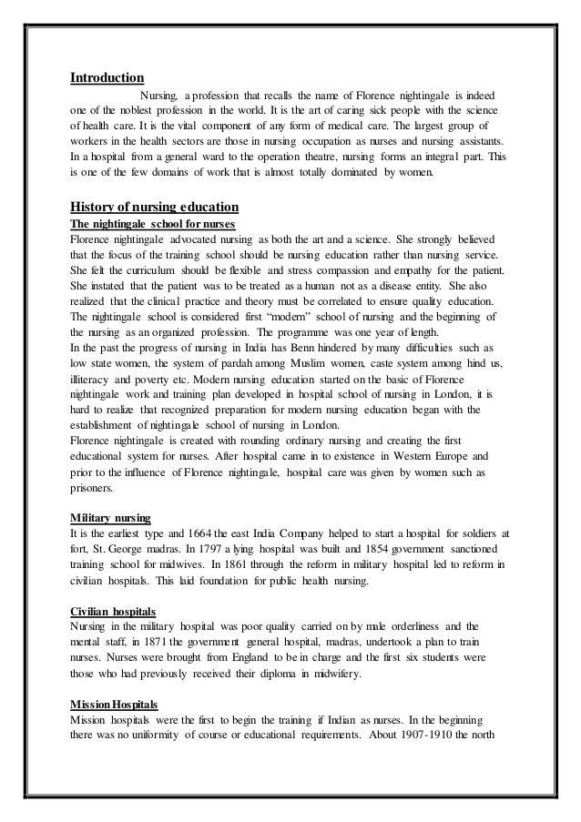 Dissertation msc nursing