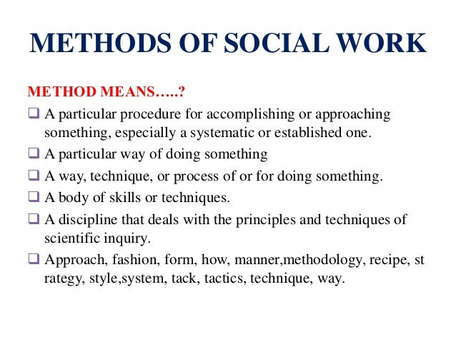 social action as a method of social work