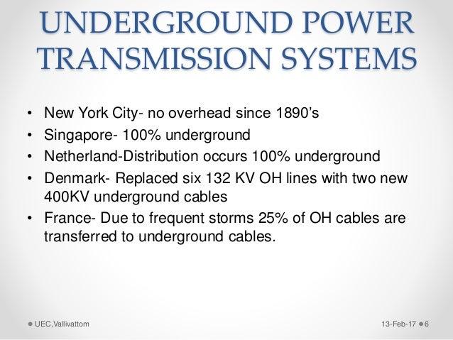 Underground High Power Transmission Lines