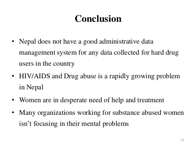 conclusion and recommendation of drug addiction
