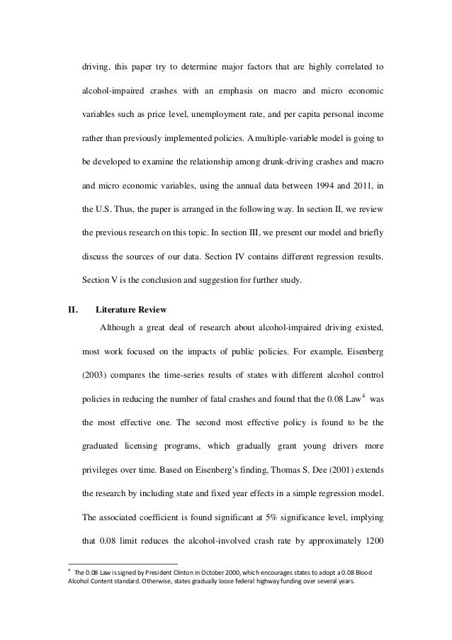 impaired driving and alcohol control policy essay