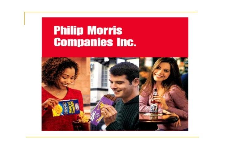 About Philip Morris               Philip Morris ถูกกอตั้งขึ้น               เมื่อปลายศตวรรษที่ 1800                1953 เ...