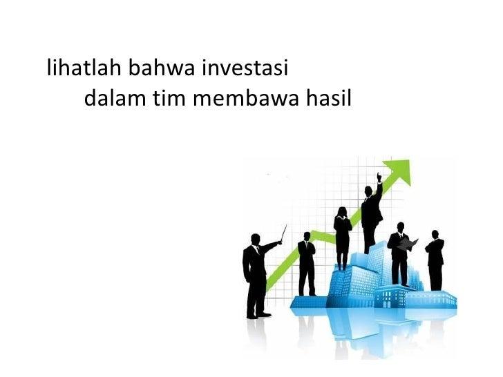 hentikan investasi     pada anggotayang tidak tumbuh