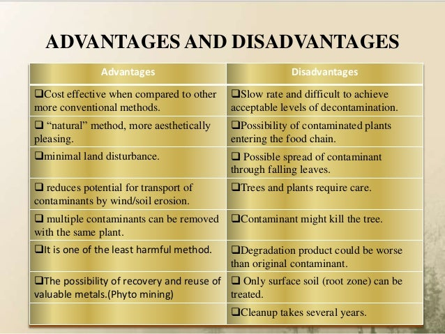 advantages and disadvantages of phytoremediation pdf