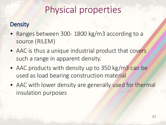 Physical Properties Of Aac Blocks