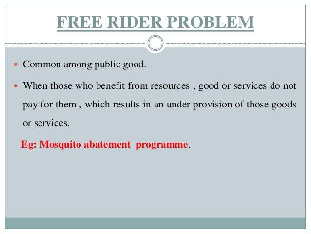 Market Failure And Free Rider Problem
