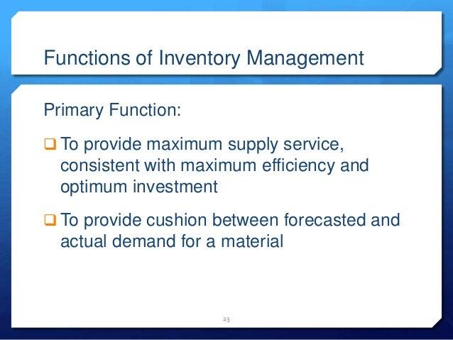 Seminar on inventory management