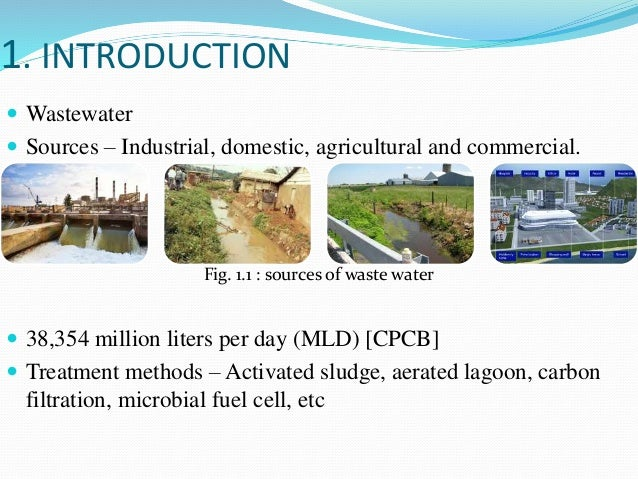 Wastewater treatment using microbial fuel cell and