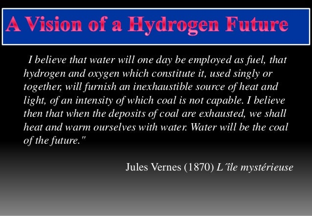 All About Of Hydrogen In A Presentation