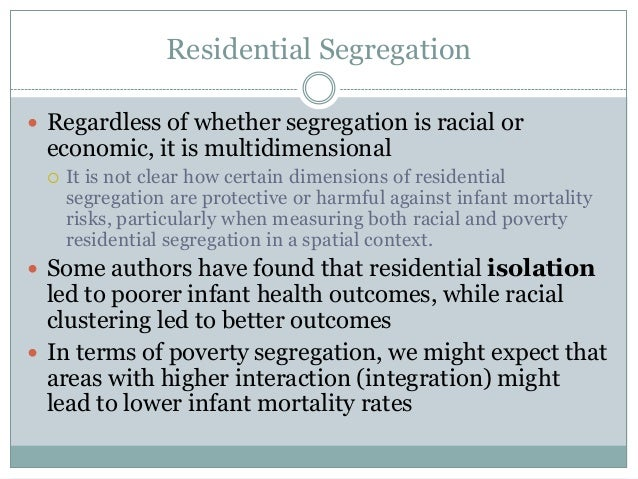 residential segregation in america essay Building america's the voices of urban institute's researchers from moving into white neighborhoods and produced high levels of residential segregation.