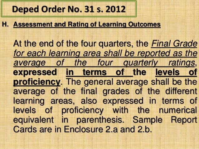 deped orders no homework The cut-off score for inclusion in the rqa is seventy (70) points per deped order  no 22, 2015 entitled hiring guidelines for the remaining teaching positions.