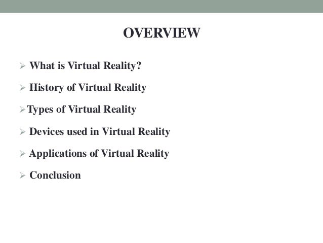 Virtual Reality-Seminar  presentation Slide 3