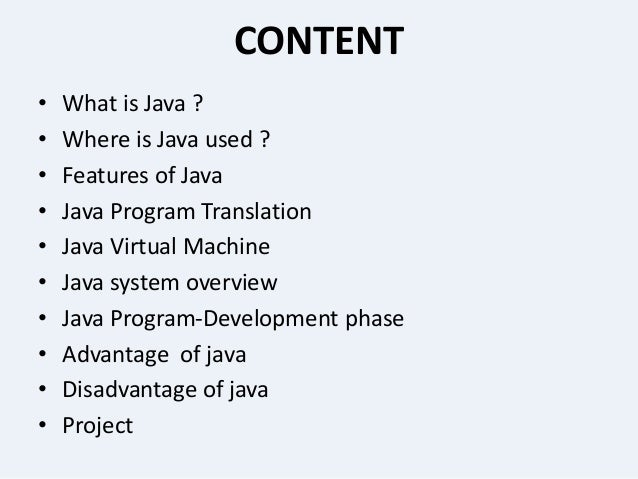 Presentation on core java presentation on core java by mahir jain 2 toneelgroepblik Gallery