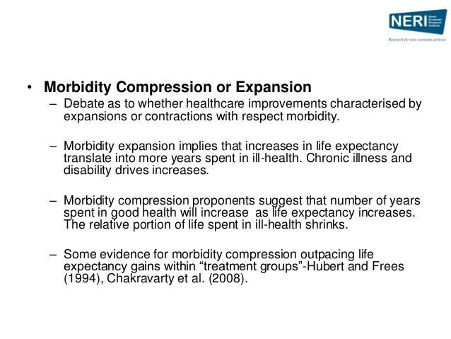 """compression morbidity thesis Life expectancy compression: the impact of moving into a long term care   national academy of sciences entitled """"the compression of morbidity""""  care  system and as an industry, theses facilities experience the impact of."""