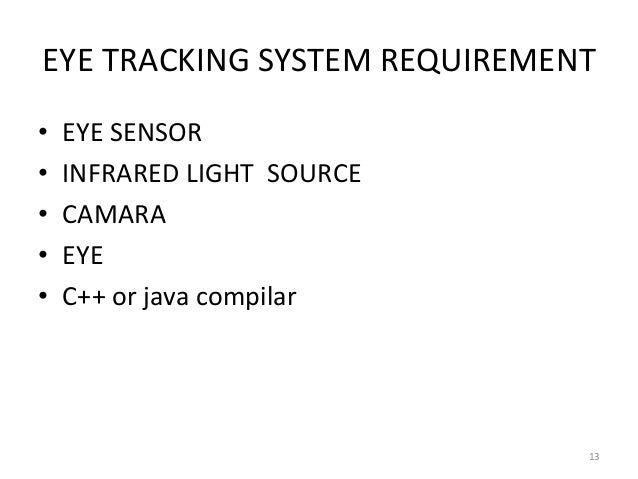 eye tracking system and formulation