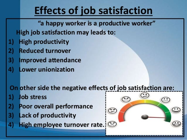 a happy worker is a productive one