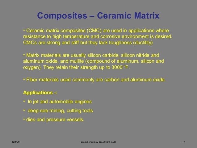 Ceramic Matrix Composite : Reinforced polymeric composite rpc materials