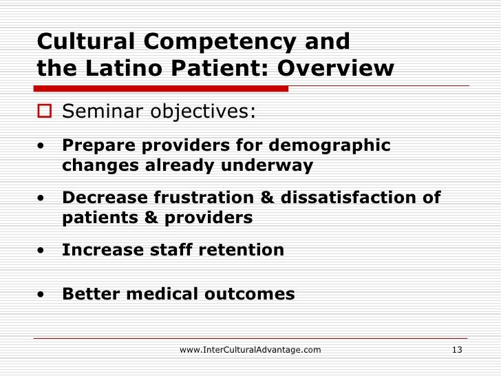 cultural competence and patient care outcomes essay Learn more about cultural sensitivity, how it plays out in the real world, and why it  is  this is because cultural barriers between professionals and their patients  have been found to lead to inadequate health care among  learning outcomes   identifying & addressing employee competencies as a manager properties.