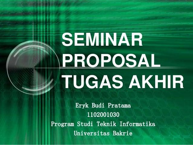Seminar Proposal Skripsi Analisis Pengaruh Tingkat Kematangan Manaj