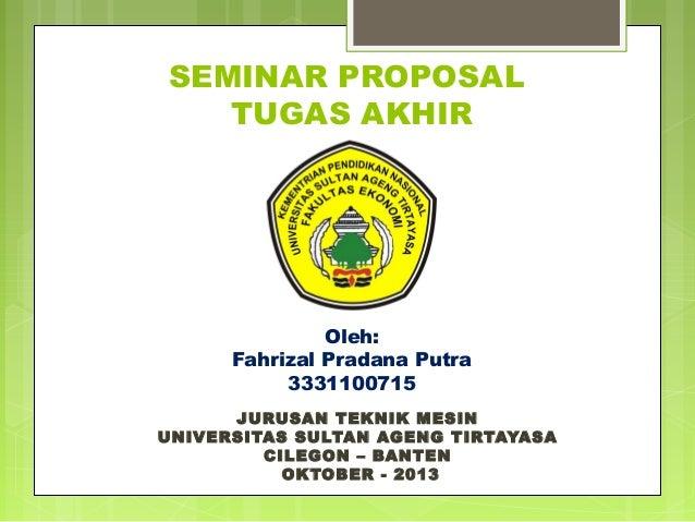 Seminar Proposal Tugas Akhir