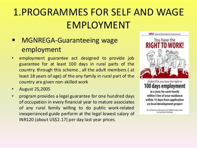 essay on rural wage employment programme We provide excellent essay writing service 24/7 enjoy proficient essay writing and custom writing services provided by professional academic writers.