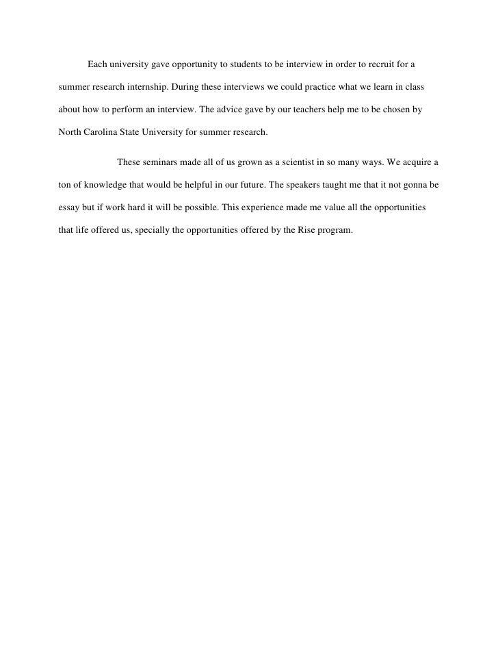 academic response paper