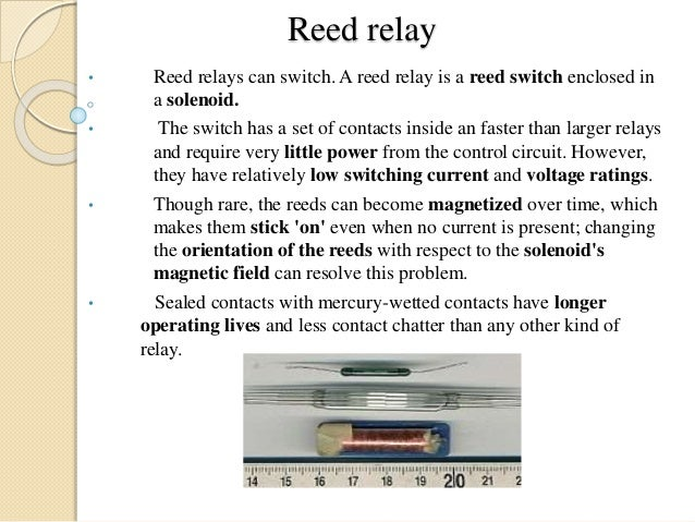 Reed Relay Switch Circuit