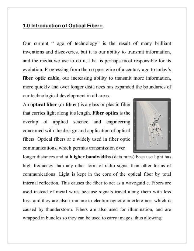 optical fibre communication seminar report for brech.