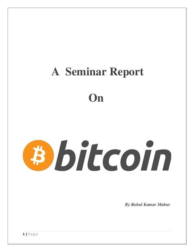 1 | P a g e A Seminar Report On By Rahul Kumar Mahur