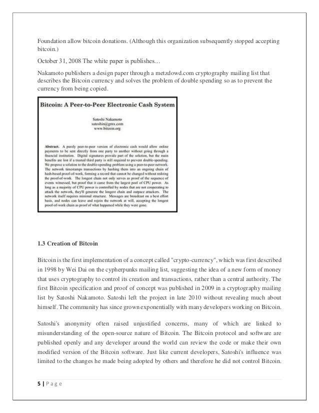 Cryptocurrency seminar report pdf