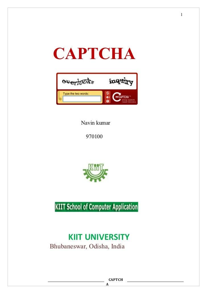 Seminar report on captcha