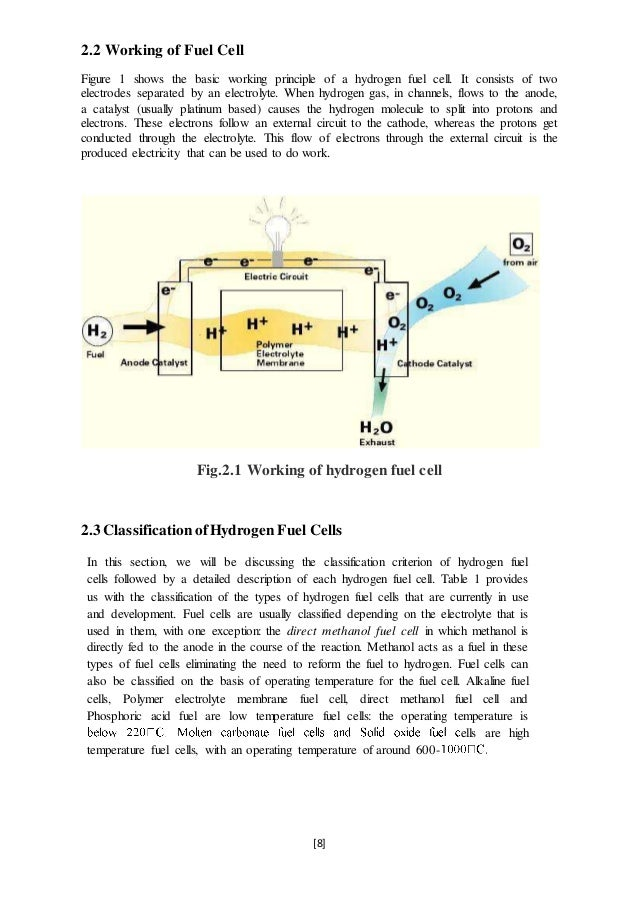 Seminar Report On Hydrogen Fuel Cell