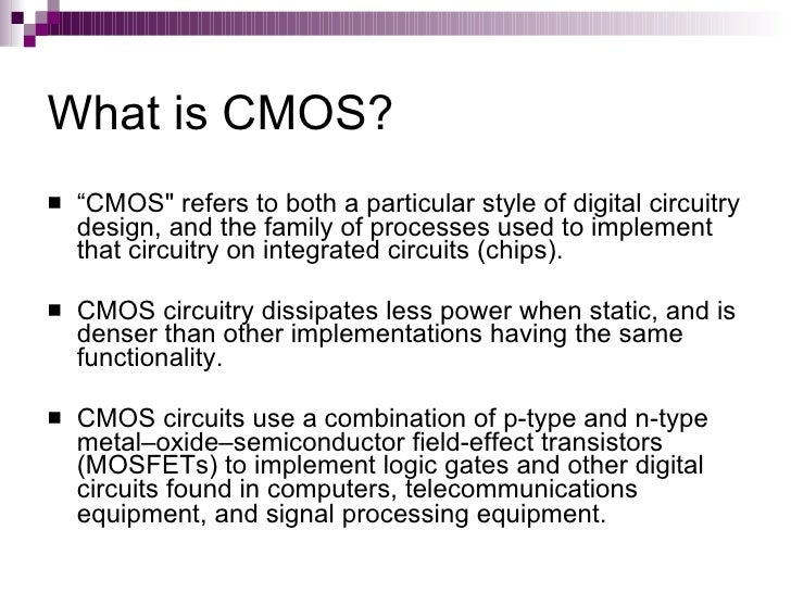 design technique of p type cmos circuit Request (pdf)   design techniques of   with rapid technology scaling, the proportion of the static power catches up with dynamic power gradually to decrease leakage power is becoming more and more important in low-power design base on the pact that pmos transistors have an order of.