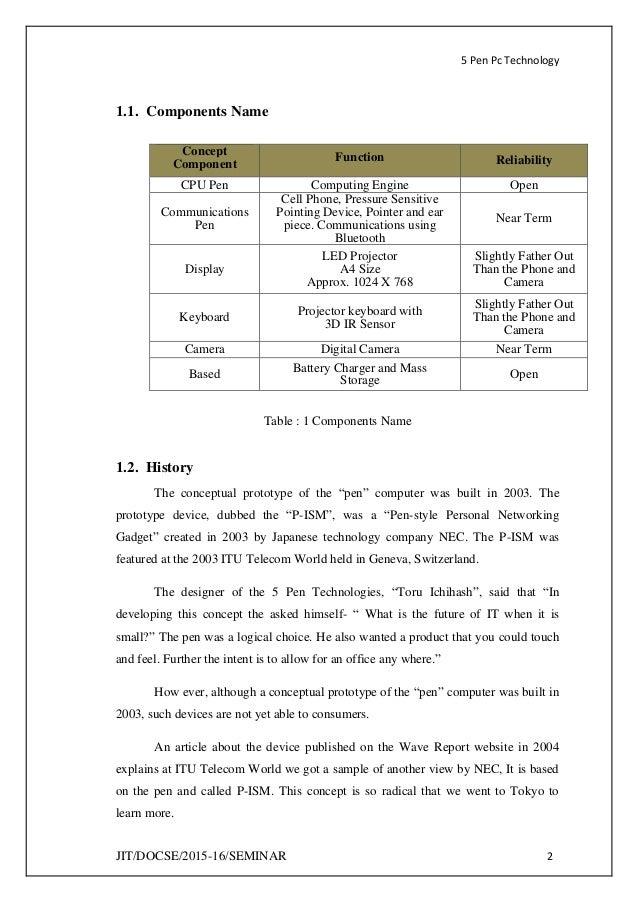 5 Pen Pc Technology Documentation Pdf