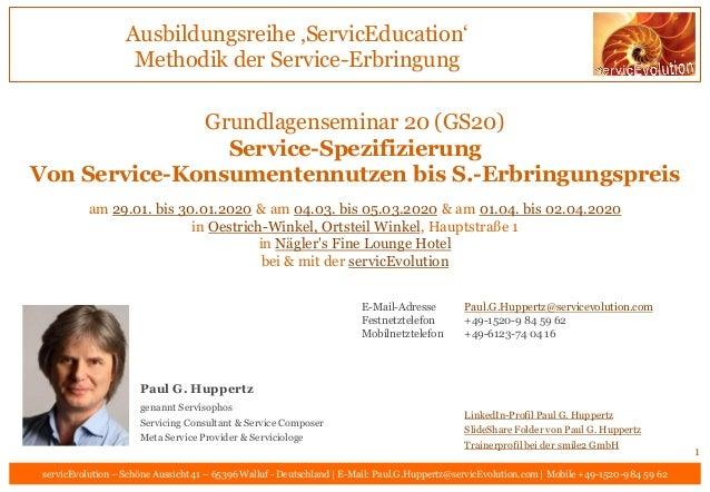 Ausbildungsreihe 'ServicEducation' Methodik der Service-Erbringung servicEvolution – Schöne Aussicht 41 – 65396 Walluf - D...