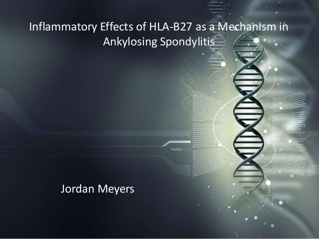 Inflammatory Effects of HLA-B27 as a Mechanism in             Ankylosing Spondylitis      Jordan Meyers
