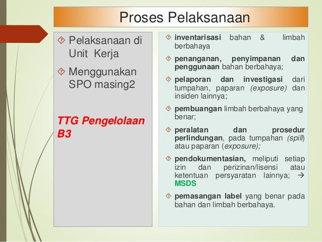 SPO , Peta Risiko, TPS & APD diimplementasikan Peta Lokasi B3 SPO Tersusun TPS & APD