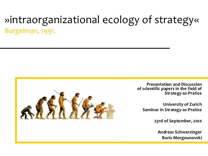 presentation of scientific papers      seminar: strategy-as-pratice»intraorganizational ecology of strategy«              ...