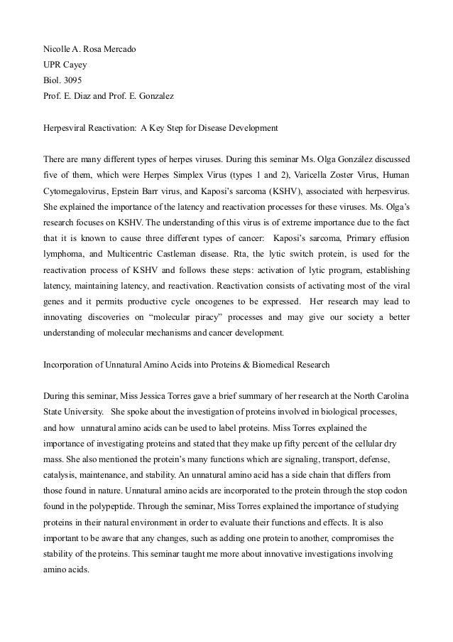 Nicolle A. Rosa MercadoUPR CayeyBiol. 3095Prof. E. Diaz and Prof. E. GonzalezHerpesviral Reactivation: A Key Step for Dise...