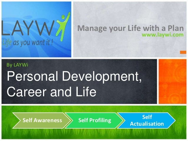 Manage your Life with a Plan www.laywi.com  By LAYWi  Personal Development, Career and Life Self Awareness  Self Profiling...