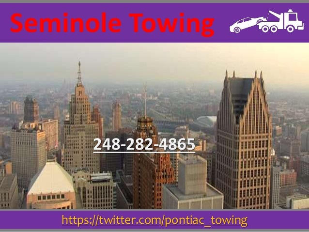https://twitter.com/pontiac_towing Seminole Towing 248-282-4865