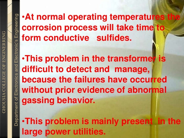 TRANSFORMER OIL TESTING FOR CORROSIVE SULFUR BY SHIVAKUMAR                                  shivakumar Slide 3