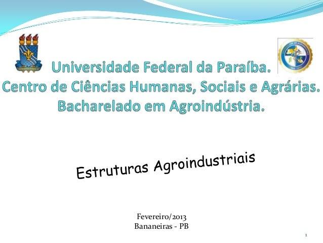 Fevereiro/2013Bananeiras - PB                  1