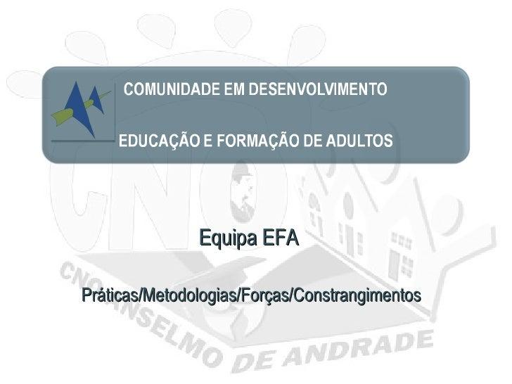 Equipa EFAPráticas/Metodologias/Forças/Constrangimentos