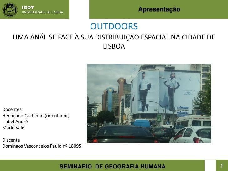 IGOT         UNIVERSIDADE DE LISBOA                                                  Apresentação                         ...