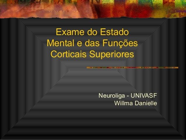 Exame do estado mental psiquiatria