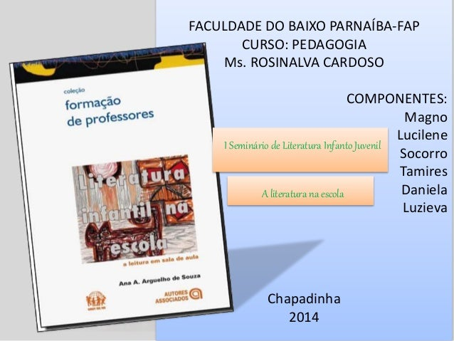 FACULDADE DO BAIXO PARNAÍBA-FAP CURSO: PEDAGOGIA Ms. ROSINALVA CARDOSO COMPONENTES: Magno Lucilene Socorro Tamires Daniela...